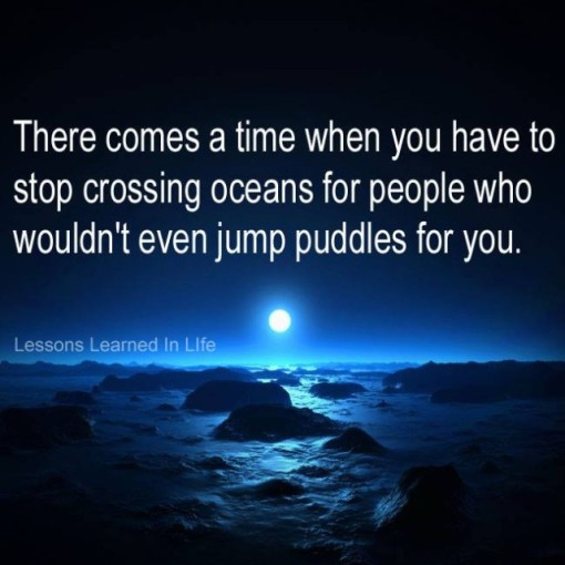 life lessons stop jumping oceans