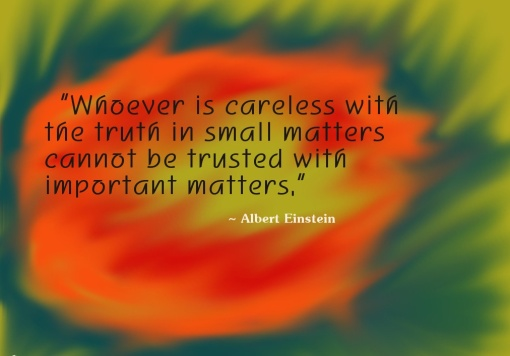 integrity and truth_albert einstein